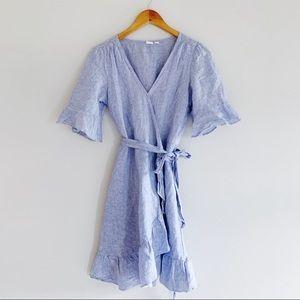 Linen Cotton Wrap Dress